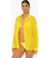 chiffon strand blouse, yellow