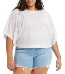 levi's plus size lucy wide-sleeve top