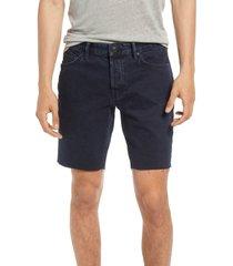 men's allsaints switch raw hem denim shorts, size 34 - blue