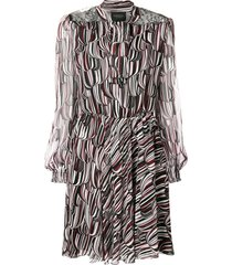 giambattista valli printed loose dress - black
