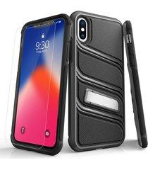 estuche protector zizo bolt x iphone x/xs - gris/negro
