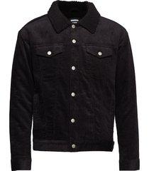 caleb sherpa jacket jeansjack denimjack zwart dr. denim