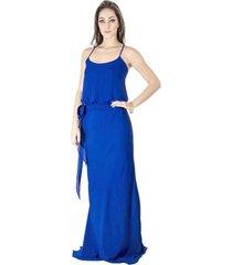 vestido longo básico calvin klein