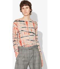 proenza schouler tie dye long sleeve t-shirt peach/orange/white xs