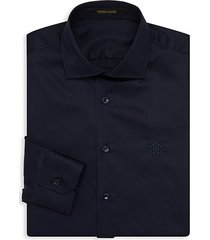 logo embroidered dress shirt