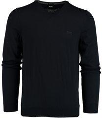 hugo boss baram-l pullover donkerblauw 50435454/402