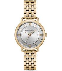 transparency goldtone stainless steel bracelet watch