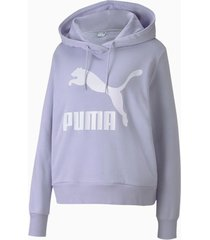 buzo lila puma classic log hoody