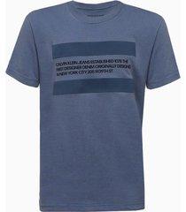 camiseta mc silk meia reat gc text faixa - azul médio - 2