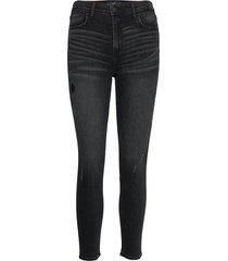 high rise super skinny crop skinny jeans svart hollister