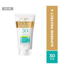 protetor solar facial l'oréal expertise supreme protect fps30 - 120ml único