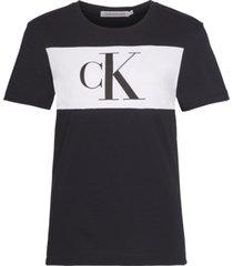 camiseta manga corta blocking monogram ck t-shirt negro calvin klein
