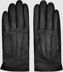 reiss gabrielle - leather gloves in black, womens, size l
