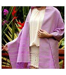 cotton shawl, 'lavender symphony' (thailand)