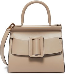 'karl 24' small flapover satchel buckle top handle bag