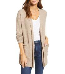 women's caslon boucle cardigan, size xx-large - brown