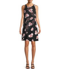 tommy hilfiger women's floral-print sleeveless dress - black - size 4