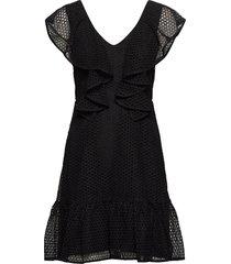luisa dress korte jurk zwart by malina