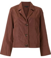 alcaçuz single breasted short coat - brown