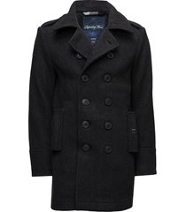 classic bridge coat wollen jas lange jas grijs superdry