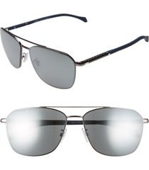 men's boss 1103/f/s 62mm navigator sunglasses - dark ruthen