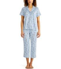 charter club plus size capri pant pajama set, created for macy's