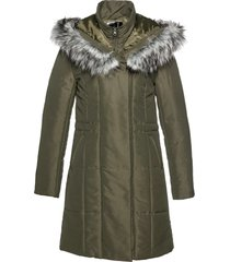 giacca lunga con ecopelliccia (verde) - bpc selection
