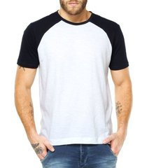 camiseta raglan criativa urbana lisa básica - masculino