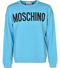 moschino classic logo print sweatshirt
