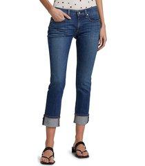 rag & bone women's dre low-rise slim boyfriend jeans - bell view - size 26 (2-4)