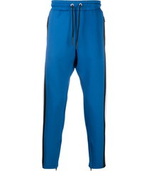 diesel drop-crotch track trousers - blue