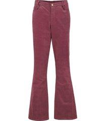 pantaloni a zampa di velluto elasticizzato con cinta comfort (rosso) - bpc bonprix collection