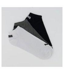 kit meia puma sapatilha 15 pares cano curto