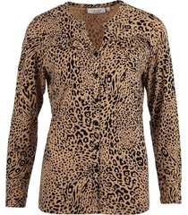blouse frill bruin