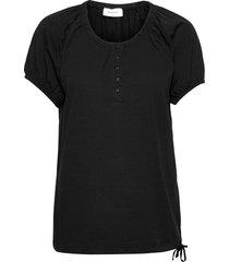 betina-ss-solid t-shirts & tops short-sleeved svart free/quent