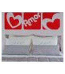 adesivo de parede cabeceira amor em quadros - es 60x187cm
