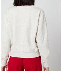 isabel marant étoile women's mobyli sweatshirt - ecru - fr 40/uk 12