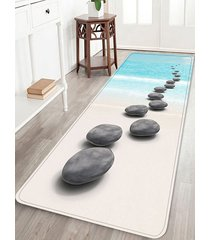beach stone 3d print decorative area rug