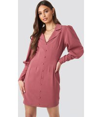 na-kd trend button front mini dress - pink