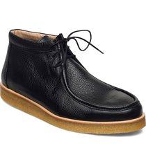 shoes - flat snörade stövlar svart angulus