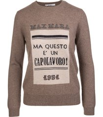 max mara brown higher pullover