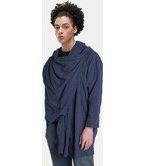 incerun hombres vendimia abrigo largo suelto casual de estilo chino camisa cárdigan superior