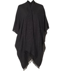 blackstone cashmere silk and paillette poncho