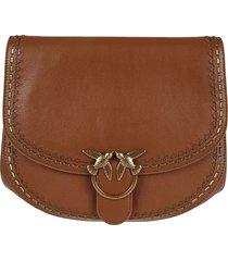 pinko bird ring chain strap flap shoulder bag