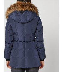 mackage women's adali classic down coat - navy - xs