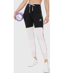 leggings negro-blanco nike  air 7_8 tght