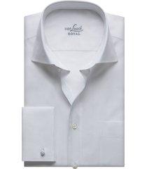 van laack rivara heren overhemd met borstzak poplin cutaway dubbel manchet wit