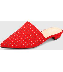 slipper rojo-plateado paris district