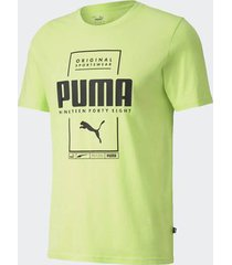 camiseta puma box verde masculina