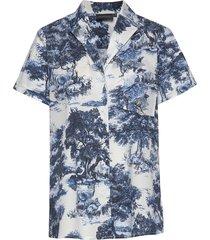 nicela shirt overhemd met korte mouwen blauw andiata